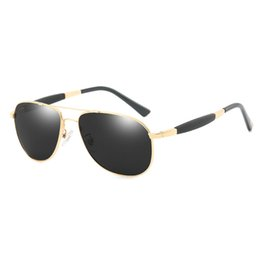 top drivers Promo Codes - Top Men's Sunglasses Brand Designer Pilots Polarized Men's Sunglasses Glasses High-end Men's Polarized Color Film Sunglasses Driver Glasses
