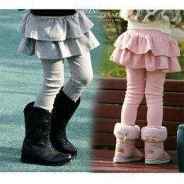 Crianças Legging Meninas Saias Calças Bolo Saia Menina Calças Do Bebê Tutu Crianças Leggings Inverno Saia-Calça Saia Plissada de Fornecedores de leggings fedex