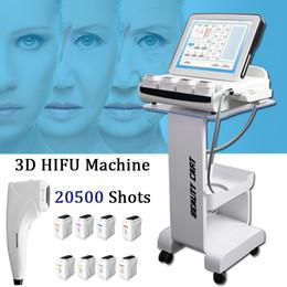 2020 ultrasonido medico De la máquina del lavado de cara HIFU envío Anti-envejecimiento de la piel Apriete HIFU por ultrasonidos Médico Salón Máquina 8 cartuchos ultrasonido medico baratos