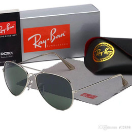 hommes lunettes de soleil aviateur miroir Promotion Lunettes de soleil 2018 marque pour les hommes femmes Designer Miroir classique Aviator Lunettes Polarisés UV400 lunettes de conduite avec des cas bruns