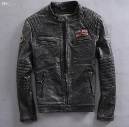 Leather Mens Military Equipment Flying Jacket Motorcycle Clothing Large Velvet Handsome Riding Coat Tide