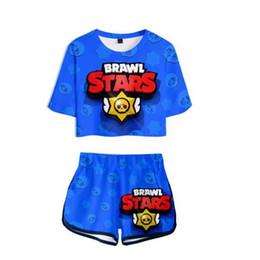 Gioco popolare BRAWL STARS T-shirt stampa 3D + pantaloncini tuta donna a maniche corte vestito sportivo sportivo Nuovo stile esclusivo caldo da