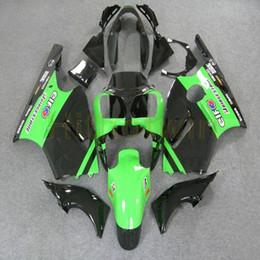 2019 carenagem verde zx12r parafusos livre + molde de injeção personalizado preto da motocicleta verde artigo ZX12R 00-01 carenagem para Ninja 2000 2001 ZX12R