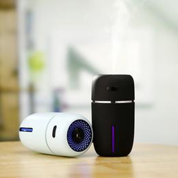 Umidificatore portatile Mini USB, umidificatore a ultrasuoni per umidificazione da 200ml con luce per viaggio da casa in camera da letto, spegnimento automatico da