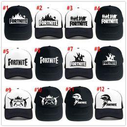 6f7ebdf1b9e 24 color Adult Fortnite Hats Trucker Cap Fortnite Fans Cool Caps Summer  Baseball Net Outdoor Sports Caps Fortnite Mesh Hats 20pcs