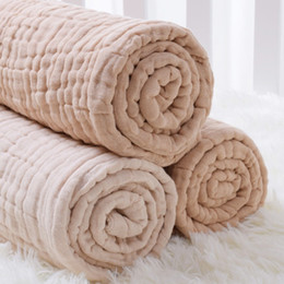 Mousseline bébé enveloppe des couvertures en Ligne-Seartist Couverture de mousseline pour nouveau-né pour bébé 100% coton 6 couches de serviette de bain en gaze pour bébé couvertures pour bébé, envelopper dans des enveloppes 2019 nouveau 35