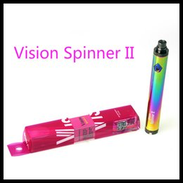 2019 pack spinner di visione Vision Spinner 2 batteria 1600mah evod Twist 3.7 V - 4.8 V Vision Spinner II Batteria Voltaggio variabile per 510 thread atomizzatore ETS protank 3