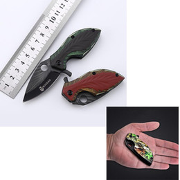 Pequena faca de ferramentas de ferramentas múltiplas on-line-Aço inoxidável Ao Ar Livre Mini Faca Dobrável Multi-função borboleta Pequena Faca Dobrável de Acampamento Tático Ferramenta de Bolso Caça Ao Ar Livre