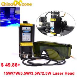 Cnc-modul online-CNC blau Lasergravur Modul 15W 5,5W 7W 450nm 12V fokussierbar Laser Modul Graviermaschine Teil Kopf mitL PWM