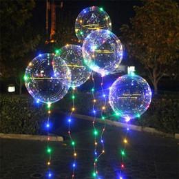 freie liebe blumen rosen Rabatt 20 Zoll Leuchtballons mit Lichterkette Leuchtende Bobo-Ballons LED-Leuchtballon für das Hochzeitsfest