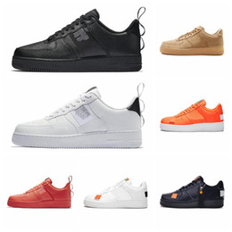 Calzado hombre blanco online-Nike Air Force 1 07 LV8 Utility Pack Men's Skateboarding Shoes Women's Sneakers Athletic Designer Footwear 2019 New