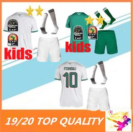 Colocando 24 xícaras on-line-KIDS 2019 Africa Cup Argélia 2 estrelas MAHREZ FEGHOULI ATAL DELORT camisa de futebol 19 20 camisas de futebol da Argélia maillot de foot