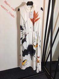 doublure d'encre Promotion Marque femme été robes femmes combinaisons barboteuses nouvelle peinture à l'encre revers imprimer gilet sans manches robe doublure de soie vestidos femmes vêtements