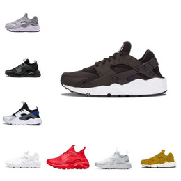 ee11782e997d 2019 New Air Huarache 1.0 4.0 Classic Men Running Shoes Cheap Stripe Red  Balck White Rose Gold Women Trainer Shoes Sport Sneakers