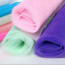 filet à oeil Promotion Matériel de gaze net dans la robe de mariage de gaze d'oeil dur net jupe pengpeng manuel fil bricolage vêtements tissu matériau dur