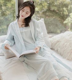b1130390bc Long-sleeved pajamas for women in autumn and pure cotton improved long- sleeved Hanfu long-sleeved Chinese style