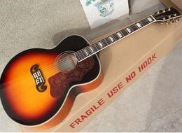 "2019 voando guitarra branca 43"" Tobacco Sunburst guitarra acústica com Rosewood Fretboard, poderia instalar Fishman 101/301/501 Pickups"