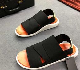 sandálias laranja Desconto 2019 hot novos homens e mulheres sandálias de moda, chinelos, fita, pele de carneiro, pés, sola oca-out, preto laranja preto ck 35-45
