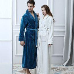 5f98bc98a6 Winter New Coral Fleece Lady Robe Kimono Bathrobe Nightgown Thick Warm Long  Sleeve Sleepwear Bath Night Gown purple fleece robe on sale