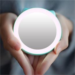 specchio della banca di potenza Sconti Portatile 3 in 1 multi-funzione LED specchio luci specchio specchio lampada Power Bank 1500mAh bellezza specchio cosmetico