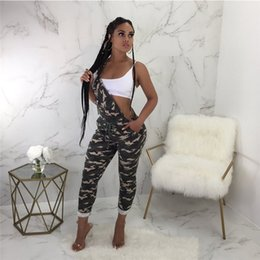 16c9169efb6 Women Jumpsuit Cotton Camouflage Overalls Spring Summer Army Green long  Strap Jumpsuit Rompers Pants trousers