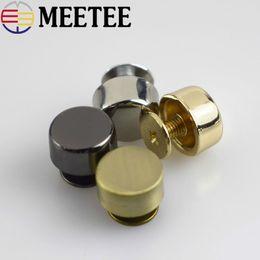 Couro diy rebites on-line-Meetee 30 pcs Saco De Metal Combinado Botão Satchel Decorativo Cogumelo Pé Prego Fivela de Hardware Hardware DIY Rebite Acessórios G8-1