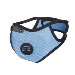 masques nasaux Promotion Anti-poussière Filtre À Air Masque Hommes Femmes Maille Mode Sport One Size Bouche Nez Équitation En Plein Air Solide Protection Randonnée