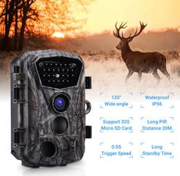 2019 câmera escondida ao ar livre PDDHKK 1080 P Câmera HD Trail para Caça à Vida Selvagem Ângulo de 120 Graus 0.5 s Tempo de Disparo Caça Câmera com Visão Noturna IR IP56