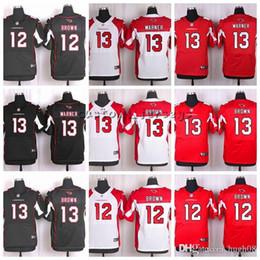 13 maillots d'élite en Ligne-Cardinal personnalisé # 13 Kurt Warner 13 Jaron Brown 12 John Brown Elite Maillots de football