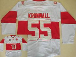 Kronwall hóquei camisas on-line-Asas Vermelhas Detroit # 55 Niklas Kronwall Jersey Inverno Clássico Do Vintage Branco Costurado Kronwall Hóquei No Gelo Jerseys Shpiping Livre