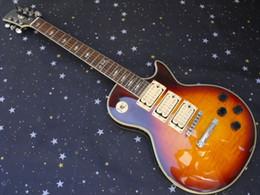 Gitarren ace online-Brennende vollkommene einteilige Hals Ace Frehley Unterzeichnung 3 hebt elektrische Gitarre freies Verschiffen auf