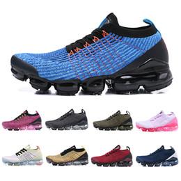 Zapatillas de deporte de moda de los hombres más calientes online-Cheap Fly 3.0 Zapatillas de running para hombre Moda de punto Hot Punch Volt Iridescent Black Bone white 3s Mujeres hombres Cojines deportivos Zapatillas de deporte 36-45