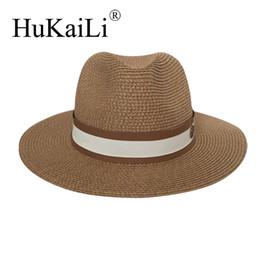 2019 chapeau de paille noir réglable Chapeau de paille jazz printemps / été Chapeau de soleil Chapeau respirant joker bonnet