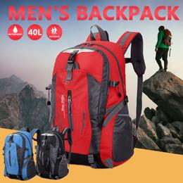 2019 mochilas de una correa 40L One Strap Hombro Durable Mountaineering Bag Portable Camping Outdoor Mochila Bolso deportivo Ciclismo Senderismo Tela de nylon mochilas de una correa baratos