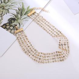 silber mesh schmuck halskette Rabatt Koreanischen Stil 2019 Mode Damen Gold Silber Spitze Halsketten Frauen Personalisierte Mesh Halskette Aussage Partei Schmuck