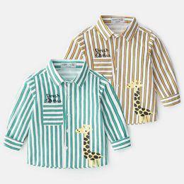 9036e62283f4 New Boys Shirts 2019 Spring Summer long sleeve stripe Kids Shirts boys  Cotton Shirts Toddler Shirt kids clothes boys clothing A2923
