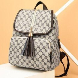 6c8fb58c4 Atacado-best selling Franjas bolsa de marca Designer de mochila das mulheres  saco de moda de luxo da marca de impressão bolsa de ombro das mulheres para  ...