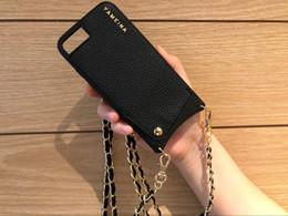 2019 kreditkartenkette Stylische Phone Wallet Tasche für Kreditkarten Crossbody Case Cover mit Strap lange Kette für iPhone XS MAX XR X 6S 6 7 8 plus Hülle günstig kreditkartenkette