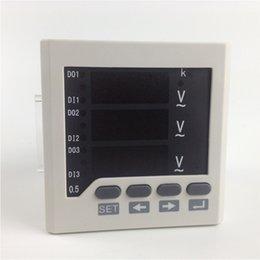 2019 вольтметр амперметр Freeshipping метр напряжения тока AC установки панели 3 участков, 0-450V ,метр электропитания V 220V, цифровой дисплей Сид V метры