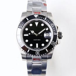 Relógio de mergulho eta cerâmica preta on-line-Relógios de luxo V9 904L 116610LN ETA 3135 Automatic Relógios Mecânicos Preto Verde Quadro Cerâmica Luminous Mergulho Assista DHL frete grátis
