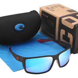 Design de embalagem vintage on-line-Reefton MARCA DESIGN Novos Óculos De Sol Dos Homens Polarizados Ao Ar Livre Quadrado Óculos De Sol Para Homens Óculos De Pesca Do Vintage Esporte Eyewear Com Pacotes