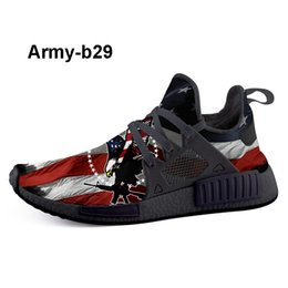 personalized shoes Promo Codes - Shop Army-b28 Print Custom Tennis Shoes. Browse Custom Sneakers of White Black Fashion Designer Sneakers for USA personalized trainer online