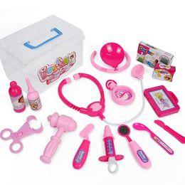 i giocattoli di gioco del ruolo dei bambini Sconti Dottore Toys for Children Girls Pretend Gioca Simulazione Medical Toy Doctor Role Play Set Giocattoli educativi per bambini Regalo per bambini