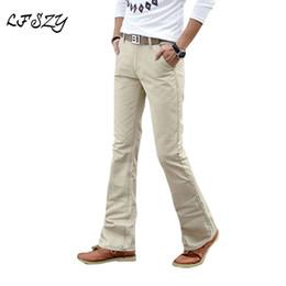 Stivali bianchi online-2018 Primavera Estate Autunno Casual Flare Leg Boot Jeans tagliati Jeans slim Jeans uomo alta moda bianco Jean Pantaloni taglia 27-36 38