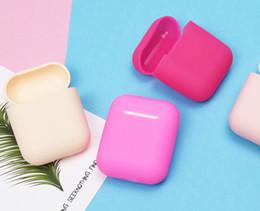 Хорошее качество iphone наушники онлайн-Силиконовый чехол для Airpods наушники беспроводная гарнитура наушники защитный рукав силиконовый чехол для iphone горячей продажи хорошее качество
