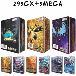 hp alto Desconto Os mais recentes Pokémons Cartão Board Game Toy 295GX + 5Mega 300pcs diferentes Cartões Alto valor de ataque HP 200 + Flash Cards