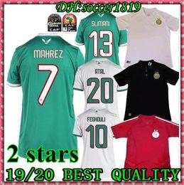2 stars 2019 Africa Cup Argélia camisas de futebol vermelhas Treino crianças MAHREZ FEGHOULI ATAL BRAHIMI camisas de futebol 19 20 Argélia maillot de foot de Fornecedores de cidade orlando kaká roxo