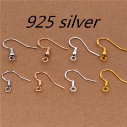 2019 jóias descobertas 50 pçs / lote = 25 pairs esculpida 925 jóias de prata brinco achados gancho ganchos ganchos de alta qualidade jóias acessórios desconto jóias descobertas