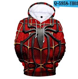 Мужские толстовки для детей онлайн-Длинные рукава пиджаков Spider Man Far From Home 3D печати Толстовки детей для взрослых Мода Новые прибытия Streetwear Одежда