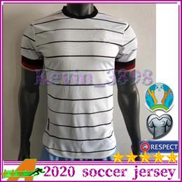 2019 mangas compridas com camisa ronaldo Versão Jogador Alemanha de Futebol 19-20 Men # 20 GNABRY # 11 REUS # 8 Kroos Camisolas de futebol de casa brancas 2020 uniformes de futebol